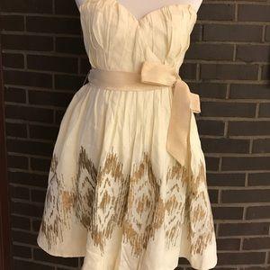 Anthropologie Moulinette Souers strapless dress